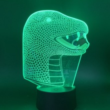 Led Night Light Snake for Children Birthday Gift USB battery powered Nightlights Kids 3D Lamp
