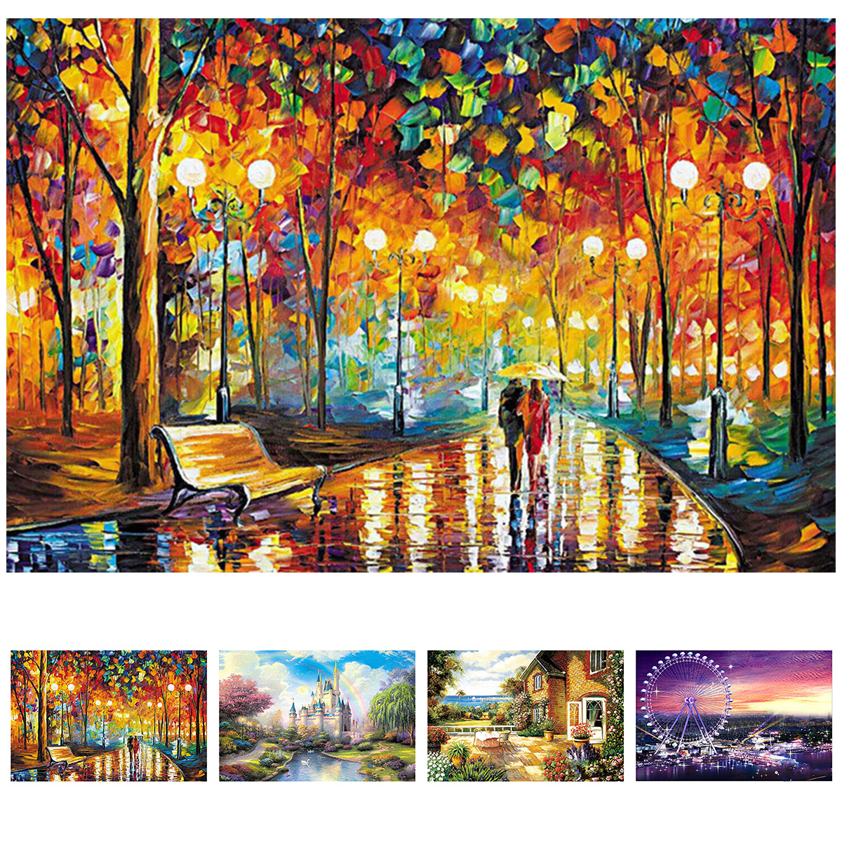 2mm Thick Jigsaw Puzzles Kit 1000 Pieces Wooden Puzzles Decompression Toy Non-Toxic Jigsaw Puzzles For Adults Kids Art Sets