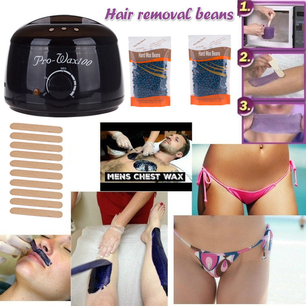 Professional Waxing Heater Wax Warmer Wax Pot Hair Removal Hot Wax  Free Stick Machine Full Set Kit Heater Machine Set AP3