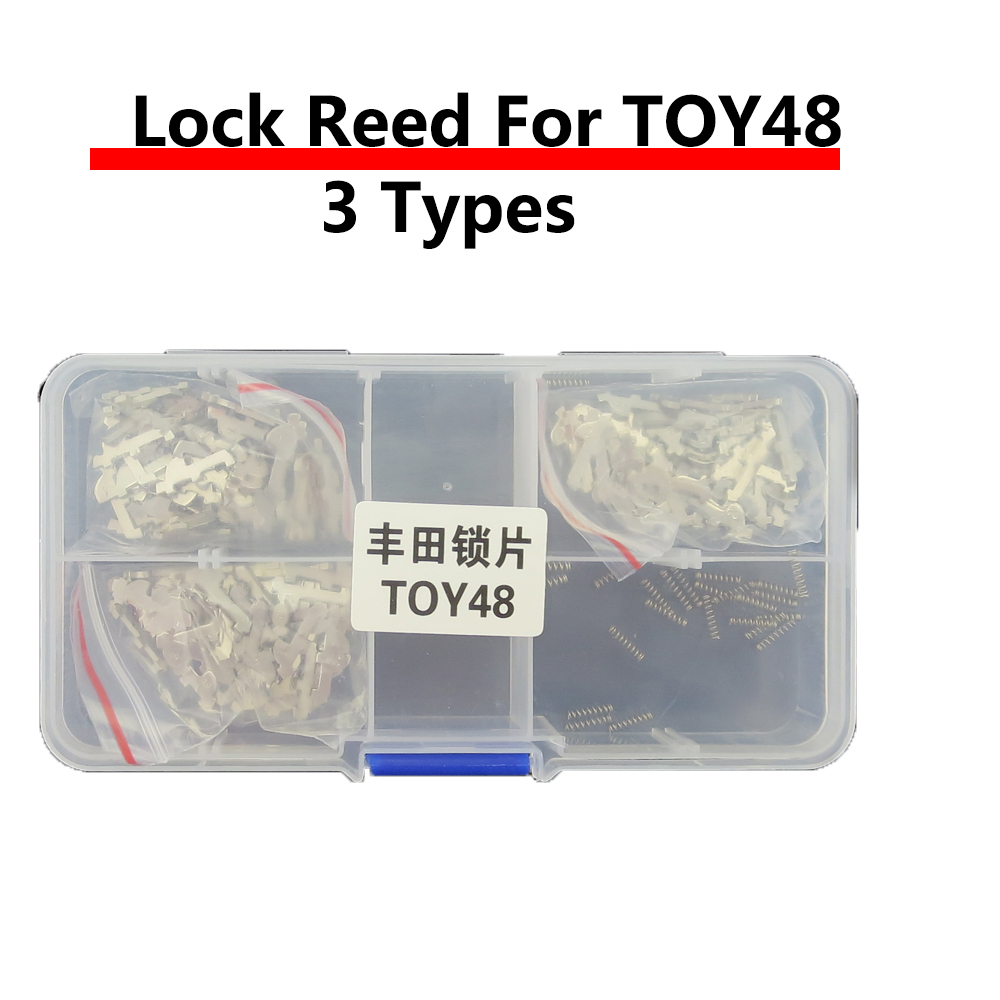150PCS/LOT TOY48 Car Lock Reed Plate For Toyota Car Lock Repair Kit Accessories with 10pcs+ Spring Locksmith Supplies