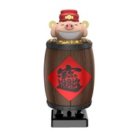 Personality Cute Pig Shape Joyous Funny Portable Multi functional Automatic Cigarette Box