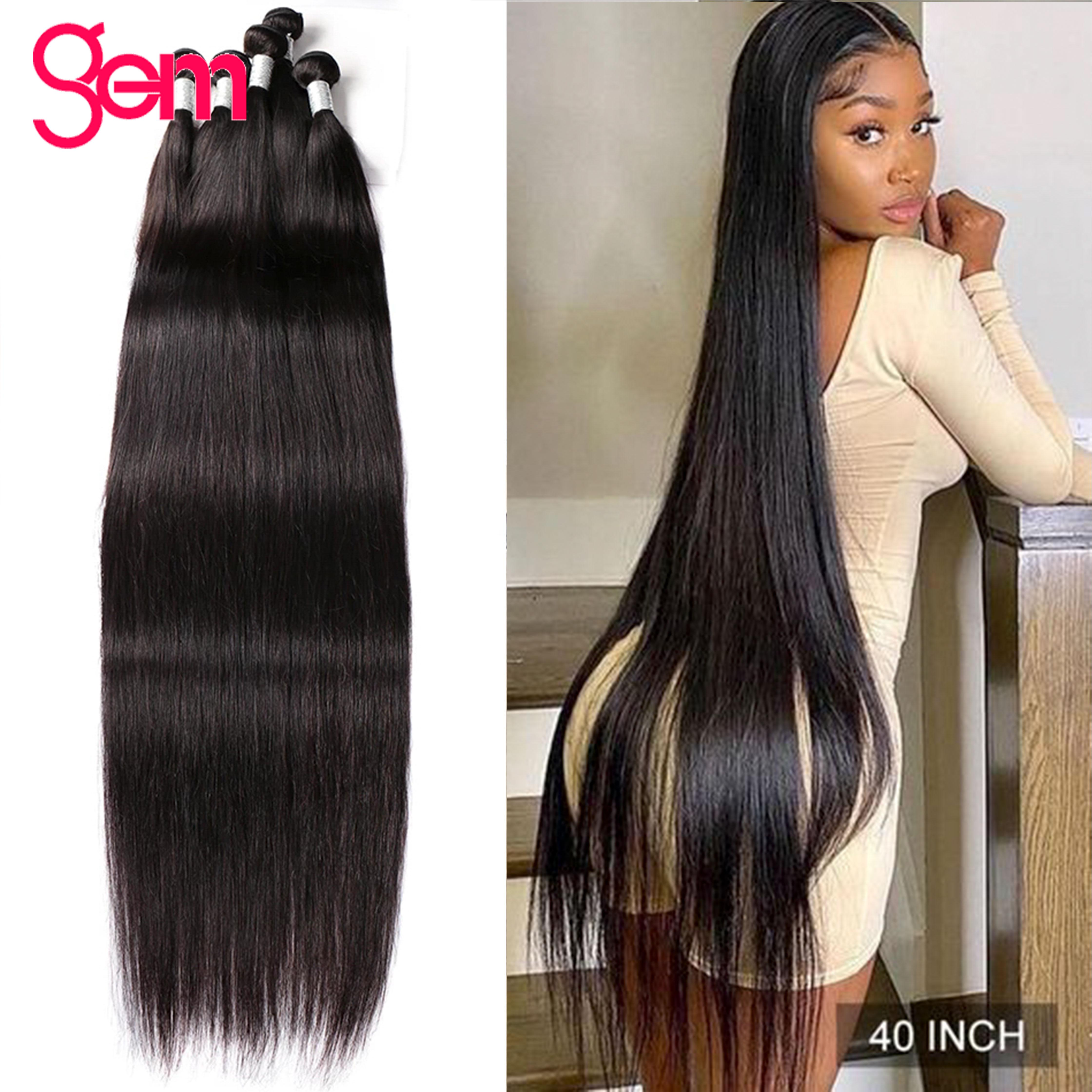 Прямые пряди 30 дюймов, прямые человеческие волосы на пряди кости прямые волосы пряди 1/ 3 Связки для черный бразильские волосы для наращивани...