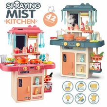 kids Classic Pretend Play kitchen toys imitate chef light Kitchen Sets COOK FUN game girl gift girls miniature food