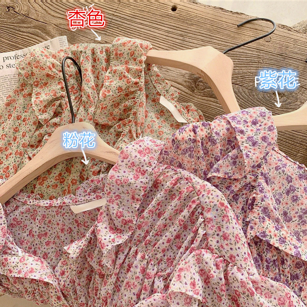 Ghost Horse Is Spring Girl ~ Sweet Floral Chiffon Shirt Model (FENGXIAN)