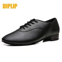 DIPLIP marka yeni Latin dans ayakkabıları Modern erkek balo salonu Tango çocuk erkek dans ayakkabıları siyah renk beyaz