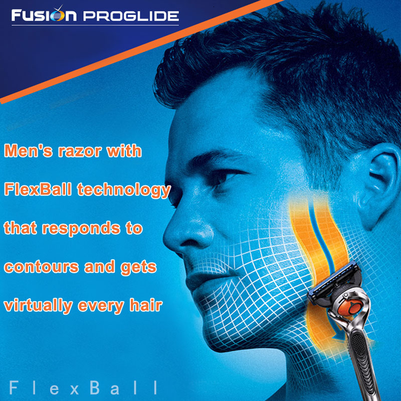 Gillette Fusion Proglide Original Men Manual Shaver Razors Machine for Shaving Blades 5 Layer Cassettes With Replacebale Blades