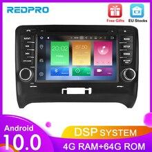 """7 """"ips Android10.0 車のdvdプレイヤーアウディtt 2006 2012 カーステレオ 2 din gpsナビゲーションbluetooth fmの無線lanマルチメディア"""