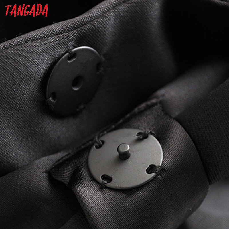 Tangada Nữ Mùa Đông Ấm Áp Nhung Phù Hợp Với Áo Khoác Nơ Lớn Dài Thun Nữ Vintage Áo Phối 3H218
