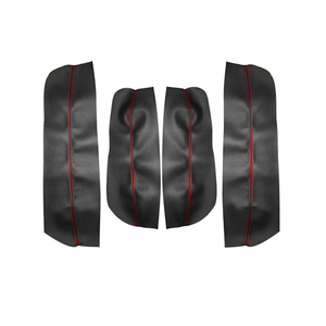 Image 2 - For Peugeot 3008 2011 2012 4pcs Car Interior Door Armrest Panel Microfiber Leather Cover Decor