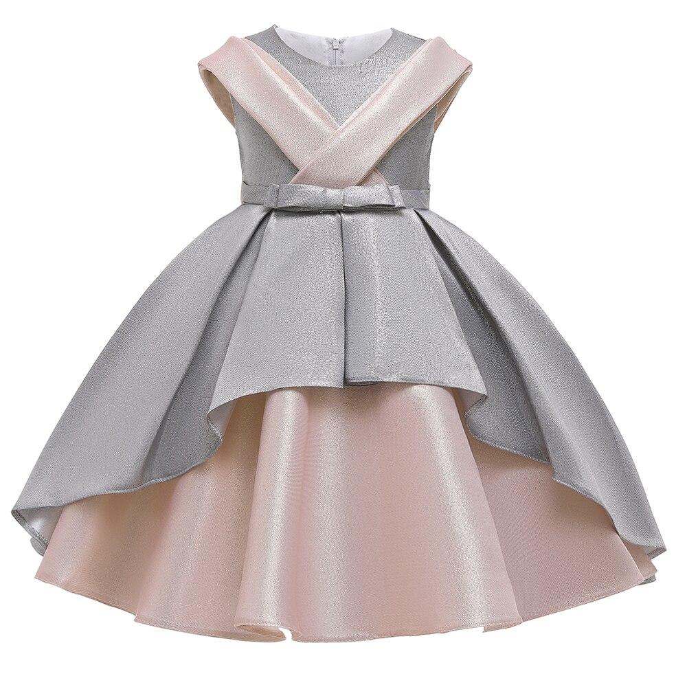2 Ways Wear Girl Elegant Princess Dress Flower Girl Party Dress For Birthday Kids Girl Ball Gown Wedding Dress 2