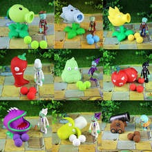 28 kinds of plants vs zombie humanoid children pea sunflower 8-10cm plastic toys 10 1 pack(China)