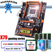 Famous brand HUANANZHI deluxe X79 motherboard with M.2 slot CPU Intel Xeon E5 1650 V2 with cooler RAM 32G(4*8G) 1600 REG ECC