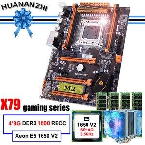 Image 1 - 有名なブランドhuananzhiデラックスX79 マザーボードM.2 スロットcpuインテルxeon E5 1650 V2 クーラーram 32 グラム (4*8 グラム) 1600 reg ecc