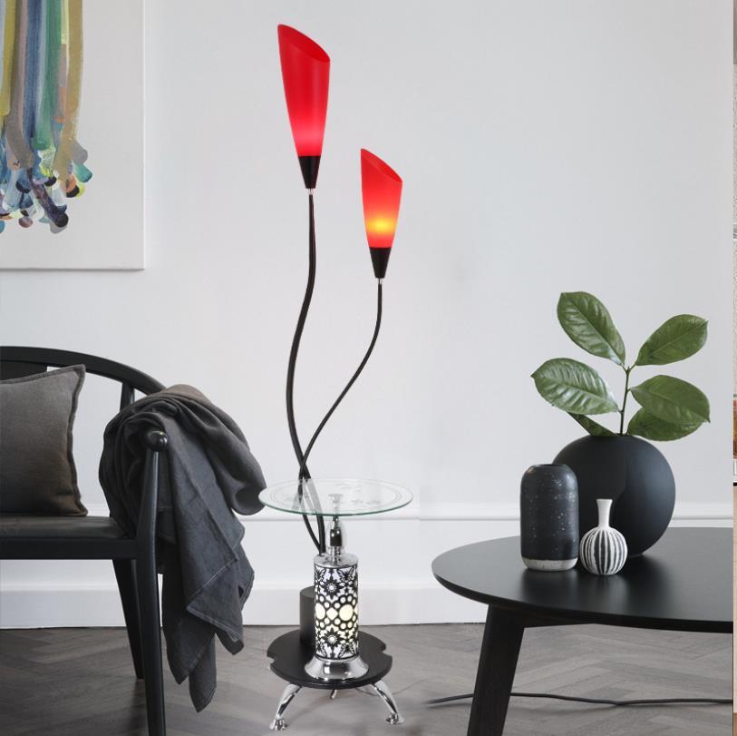 Modern simple acrylic LED floor lamp home living room study floor lamp bedroom iron floor lamp