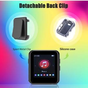 Image 2 - מיני ספורט נייד Bluetooth 5.0 MP3 נגן מתכת חזרה קליפ 1.8 אינץ HD מסך built רמקול באיכות גבוהה מוסיקה באיכות
