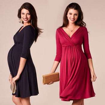 Womens Breastfeeding Maternity Dresses