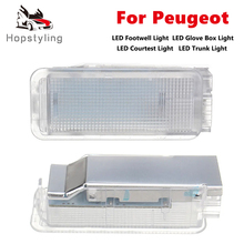 LED Luggage Trunk Light Glove Box Footwell Interior Lamps For Peugeot 307 5008 206 607 806 807 406 1007 207 306 407 408 508 RCZ
