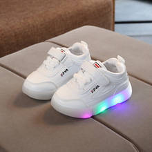 New brand Fashion Solid baby first walkers high quality LED Lovely Infant tennis