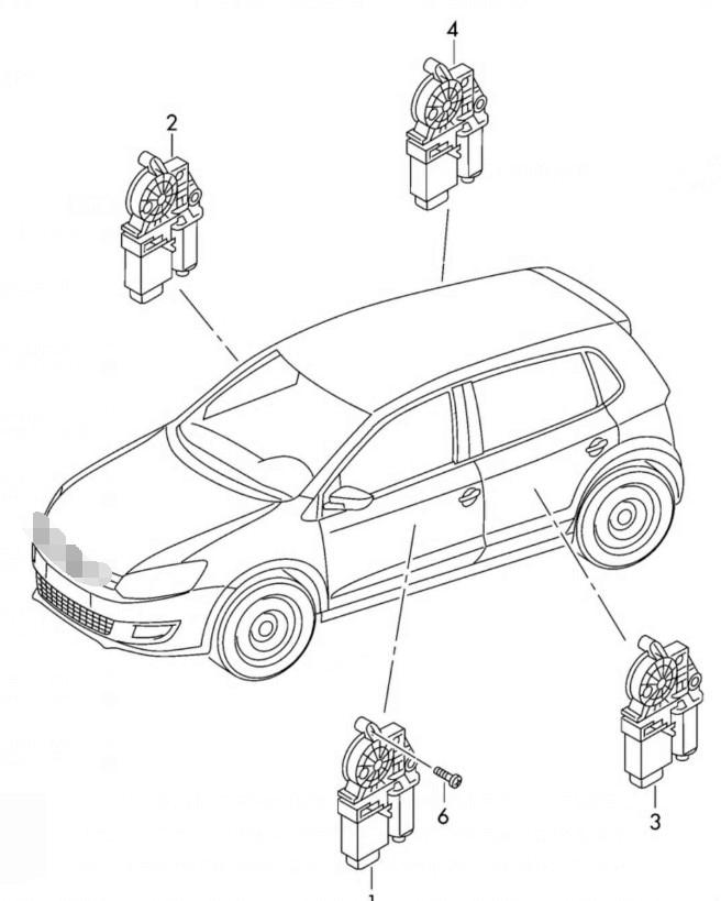 2008 2012 Motor de la ventana delantera derecha del Golf MK6 de Tiguan 5KD959701 y controlador del ECU 5KD959793 in Window Motors Parts from Automobiles Motorcycles