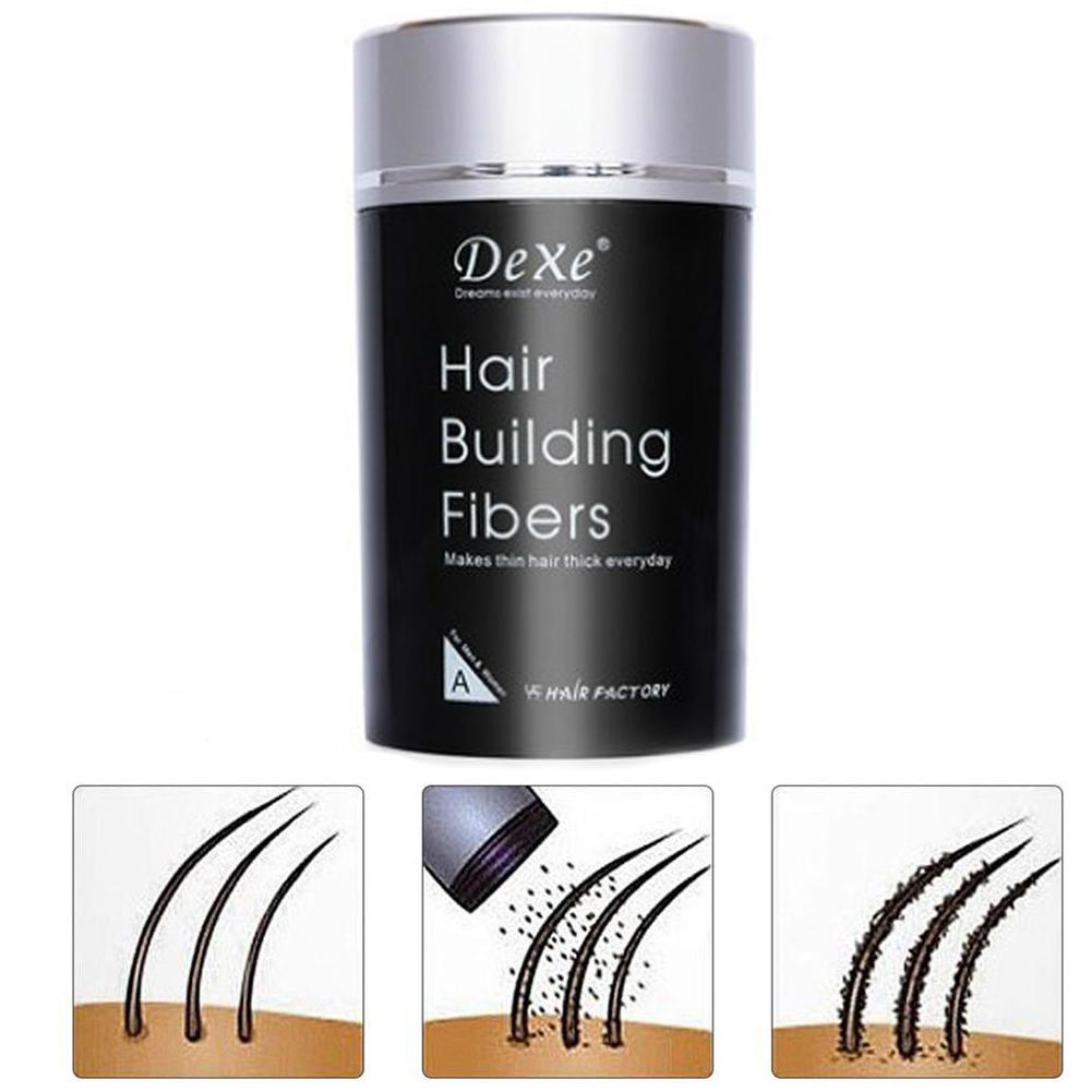 Hair Building Fibers 22g Keratin Plant Fiber Applicator Anti Loss Thickening Hair Growth Powder Fibers intertwine with