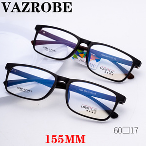 Image 1 - Vazrobe большие очки, оправа для мужчин и женщин 155 мм, широкие стекла, мужские очки по рецепту, выпускные линзы, большие TR90