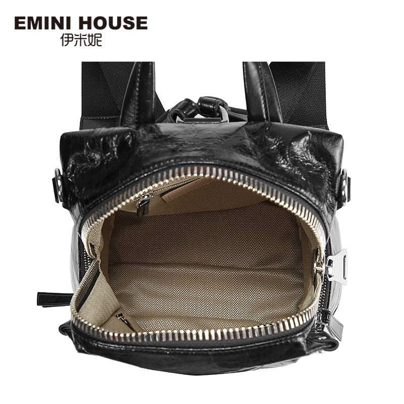 EMINI HOUSE в стиле панк Для женщин рюкзак различные способы ношения Для женщин сумка через плечо, рюкзаки для девочек-подростков, школьный рюкзак для девочек