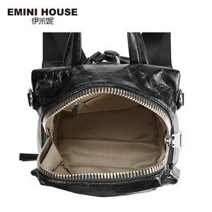 Image 5 - EMINI ev Punk tarzı kadın sırt çantası çoklu giyen yöntemleri kadın omuzdan askili çanta gençler için sırt çantaları kız çocuk okul çantası