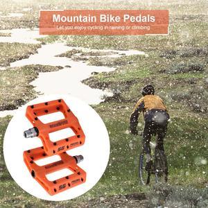 Image 4 - Ultra light rockbros pedaMountain Bike Bicycle Pedals Nylon Fiber 4 Colors Big Foot Road Bike Bearing Pedals Bicycle Bike Parts