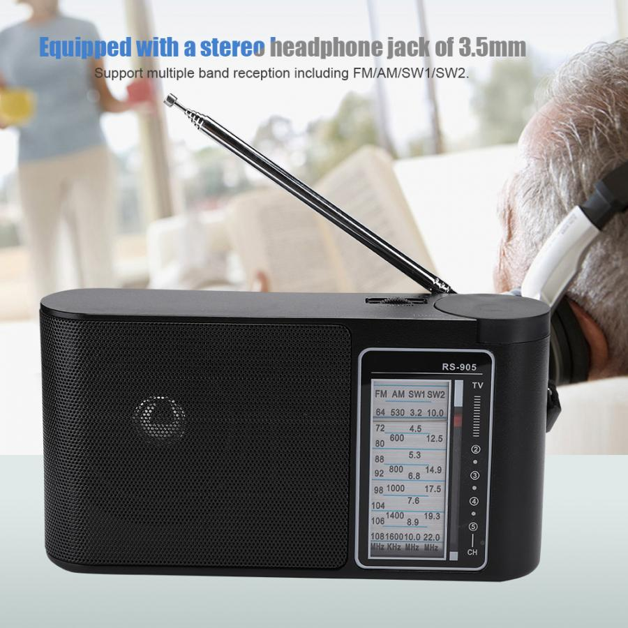 Portable Multi-band FM/AM/SW1/SW2 High Sensitivity Hand Tuned Professional Radio digital radio receiver