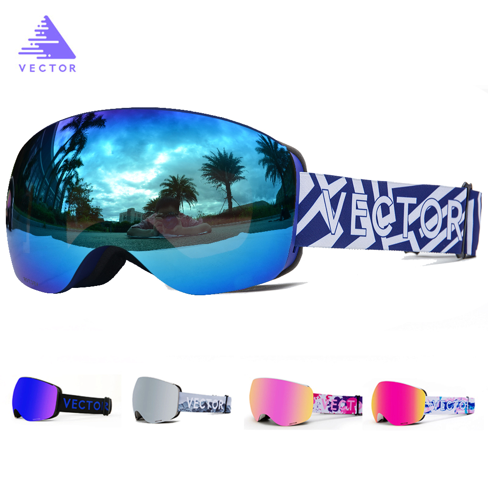 OTG Characterist Print Strap Ski Goggles Snow Glasses Men Skibrille Anti-fog Snowboard Skiing Women Sunglasses Outdoor Sport