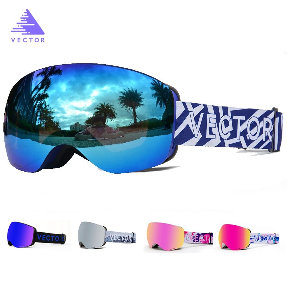 OTG Characterist Print Strap Ski Goggles Snow Glasses Men Skibrille Anti-fog Snowboard Skiing Women Sunglasses Outdoor Sport