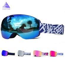 OTG caractéristique impression sangle lunettes de Ski lunettes de neige hommes Skibrille Anti buée Snowboard Ski femmes lunettes de soleil Sport de plein air