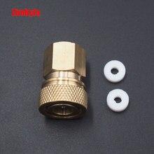 ペイントボールpcpエアガンライフル充填充電ホースチッククイックリリースカプラーフィッティング 8 ミリメートル雌ソケットクイックディスコネクトM10*1.0