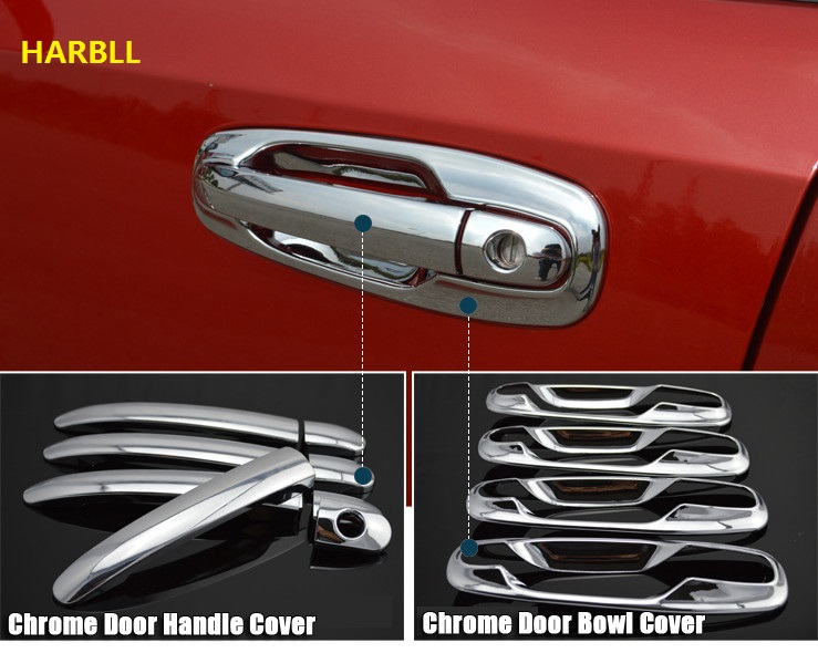 Car Door Handles Covers For Chevrolet Lacetti Optra Daewoo Nubira Suzuki Forenza Holden Viva Sticker Chrome Exterior Car Styling(China)