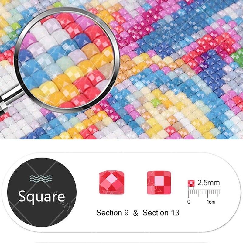 Diy 3d Алмазная мозаика горная полная круглая вышивка крестиком