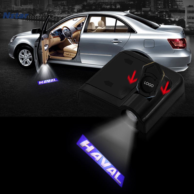 Nstar 1pc Car Door Welcomw Light Auto Shadow Projector Laser Atmosphere Lamp Decoration For Haval H7 H6 F7 Accessories