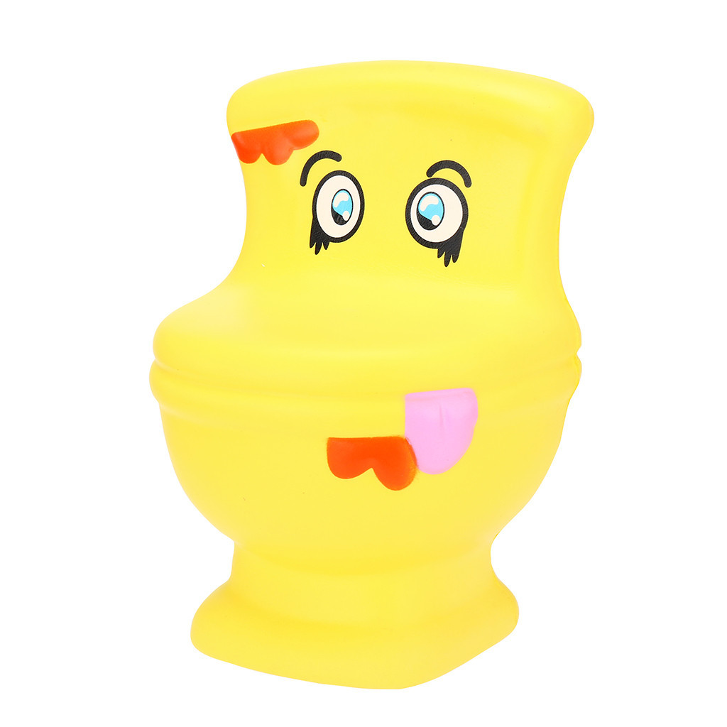 Kawaii Closestool Slow Rising Stress Toys Gifts Interesting Novelty Toy Fun Stress Reliever Decompression Toy Anti Stress #C