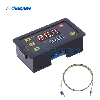 DC 5V 12V 24V AC 200V -60~500℃ Digital LED High Temperature Control Switch Thermostat Heat Cool Thermometer K-type Thermocouple цена 2017