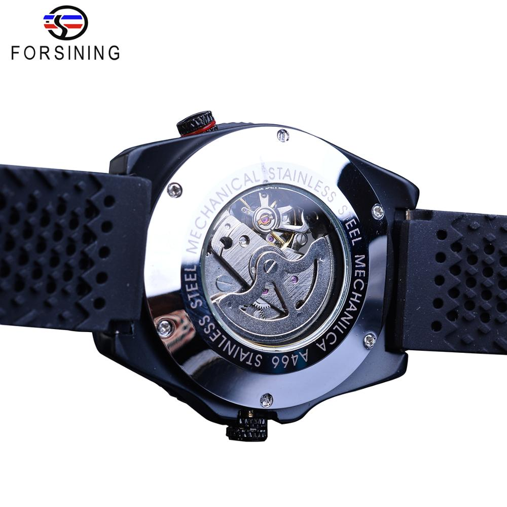 Forsining 2016 Rotating Bezel Sport Design Silicone Band Men Watches Top Brand Luxury Automatic Black Fashion Forsining 2016 Rotating Bezel Sport Design Silicone Band Men Watches Top Brand Luxury Automatic Black Fashion Casual Watch Clock