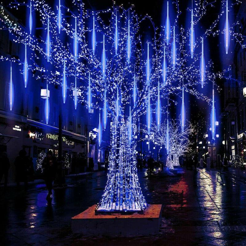 30//50CM LED Meteor Shower Lights Falling Rain Drop Tubes Garden Christmas Decor