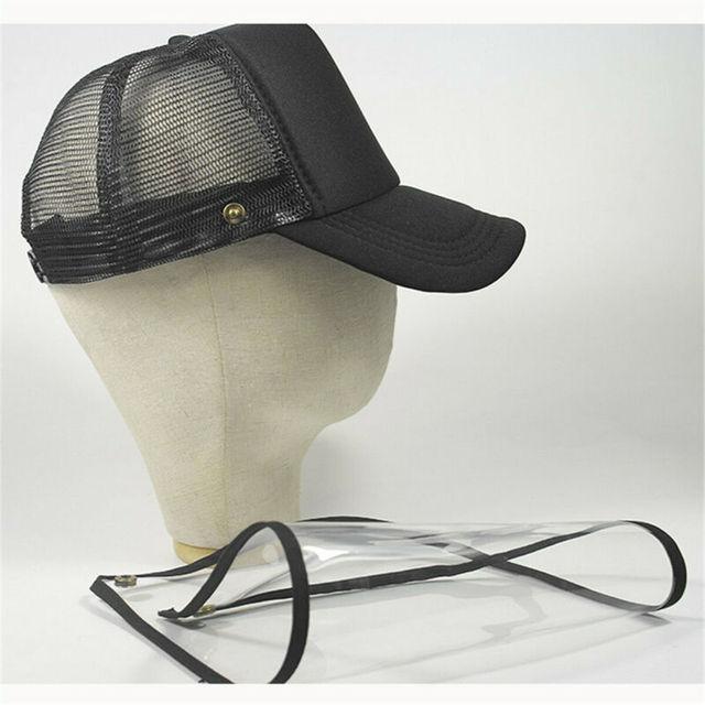 Brand New Transparent Anti Saliva Hat Splash Dust Proof Full Face Shield Anti-fog Anti-Virus Protection Mask 4