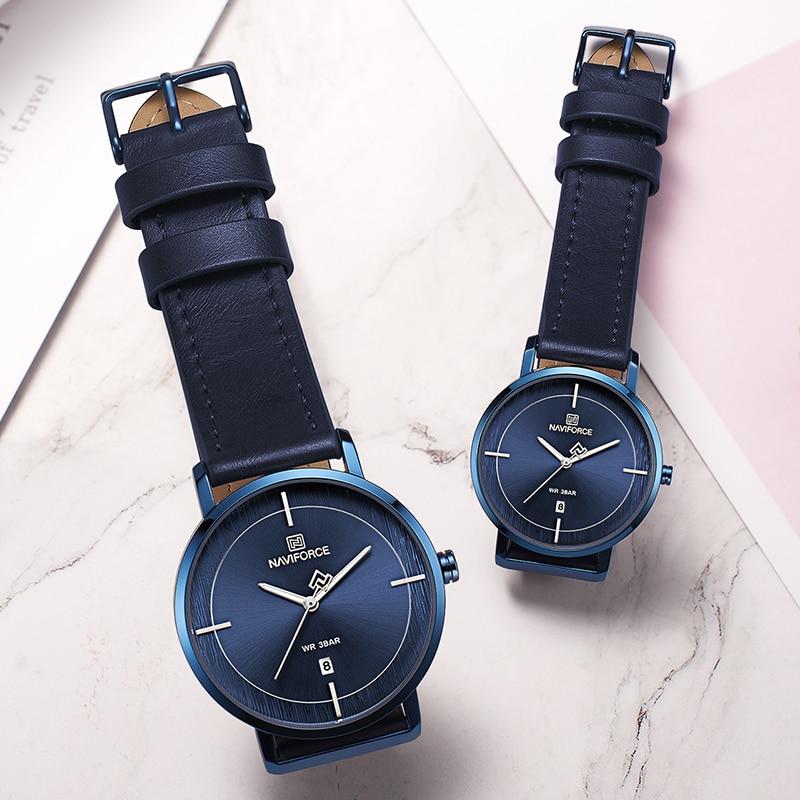 Newest Lovers Watches NAVIFORCE Luxury Brand Quartz Casual Men Women Set Watch Waterproof Couple Wristwatches Relogio Masculino