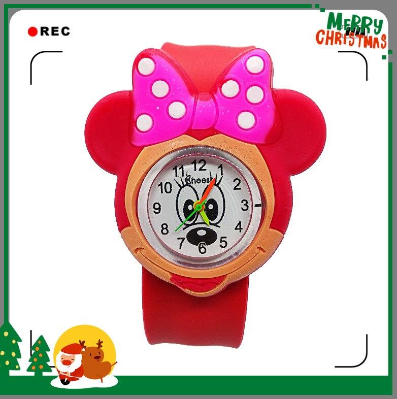 Dropshiping 3D Cartoon Lovely Baby Watch Children Girls Students Kids Popular Quartz Wrist Watches Child Regarder Clock Gift