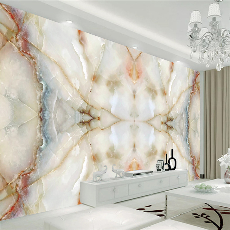 Papel pintado de la foto de la nave moderna 3D textura de mármol pared pintura TV sofá Jade piedra Material murales decoración del hogar arte pared papeles