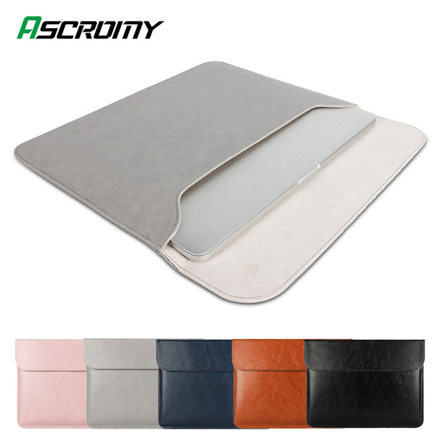 Leather Laptop Bag For Apple Macbook Air 2020 13 Mac Book Pro 16 15.6 15.4 15 13.3 15 12 11 inch Cover Sleeve Pouch Accessories