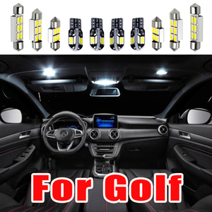 Идеальные белые светодиодные с Canbus интерьерная лампа для помещений карта купольный светильник комплект для VW для гольфа 4 5 6 7 MK4 MK5 MK6 MK7 (1999-2018...