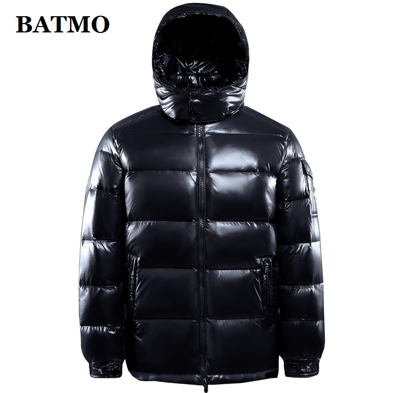 BATMO 95% White Duck Down Hooded Jackets Men,men's Winter Down Jackets ,parkas Men,plus-size M-4XL R103