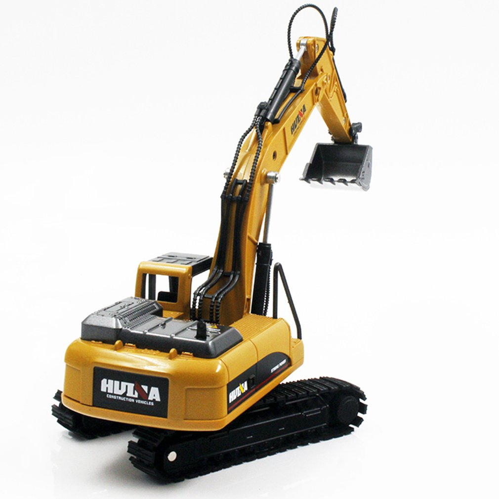 HUINA TOYS NO.1710 1/50 Alloy Excavator Truck Car Die-Cast Metal Professional Engineering Construction Vehicle RC Model Toys