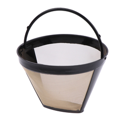 1PCS Coffee Maker Accessories Stainless Steel Reusable Cone-Style Kitchen Gadgets Coffee Filter Handmade Kitchenware