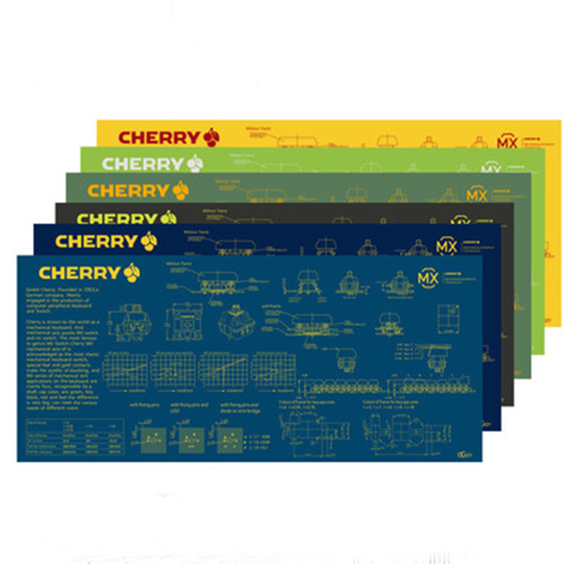 1pc Cherry Switch Decompose Picture Mouse Pad Cherry Mouse Mat Super Large 900X400*4mm Thickening Edge Locked